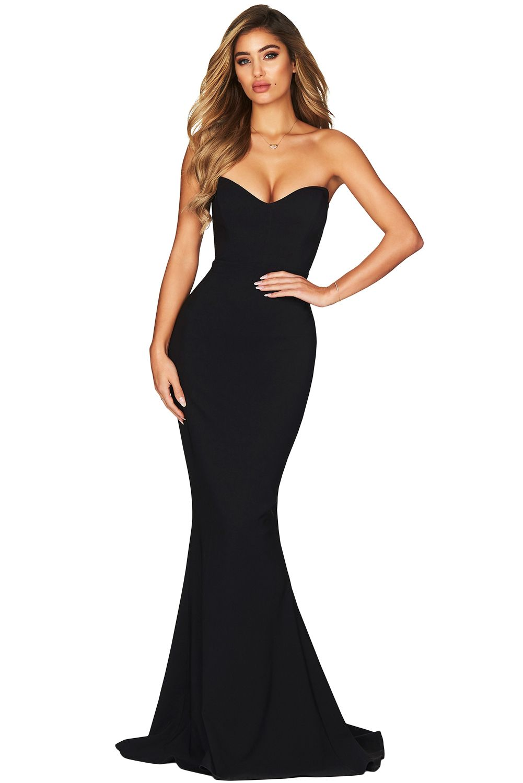 Strapless Sweetheart Neckline Mermaid Gown Fast Shipping Worldwide Strapless Dress Formal Maxi Dress Prom Black Strapless Dress [ 1500 x 1001 Pixel ]
