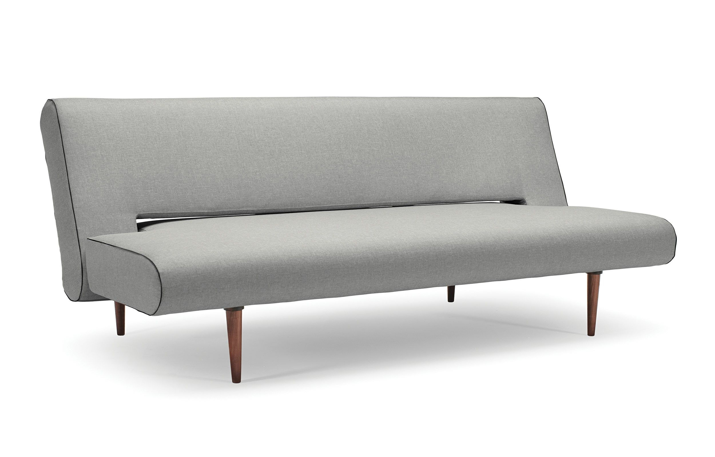 The Unfurl Sofa Bed Is A Simple Understated Convertible Sofa Bed That Was Built To Last The Dark Stained Wood Leg Contemporary Sofa Bed Sofa Bed Design Sofa