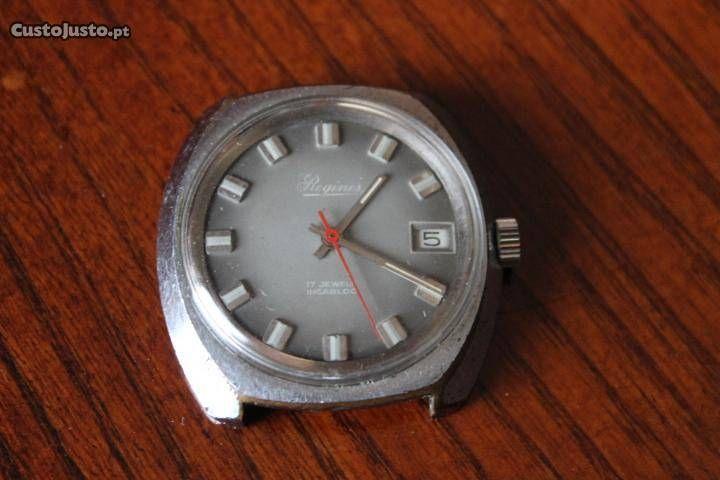 767ff95f09d relógio de marca Reginus antigo de corda - à venda - Antiguidades e  Colecções