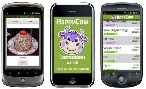 Happycow Mobile Edition Vegetarian Restaurant Guide Vegan Apps Vegan Restaurant Guide