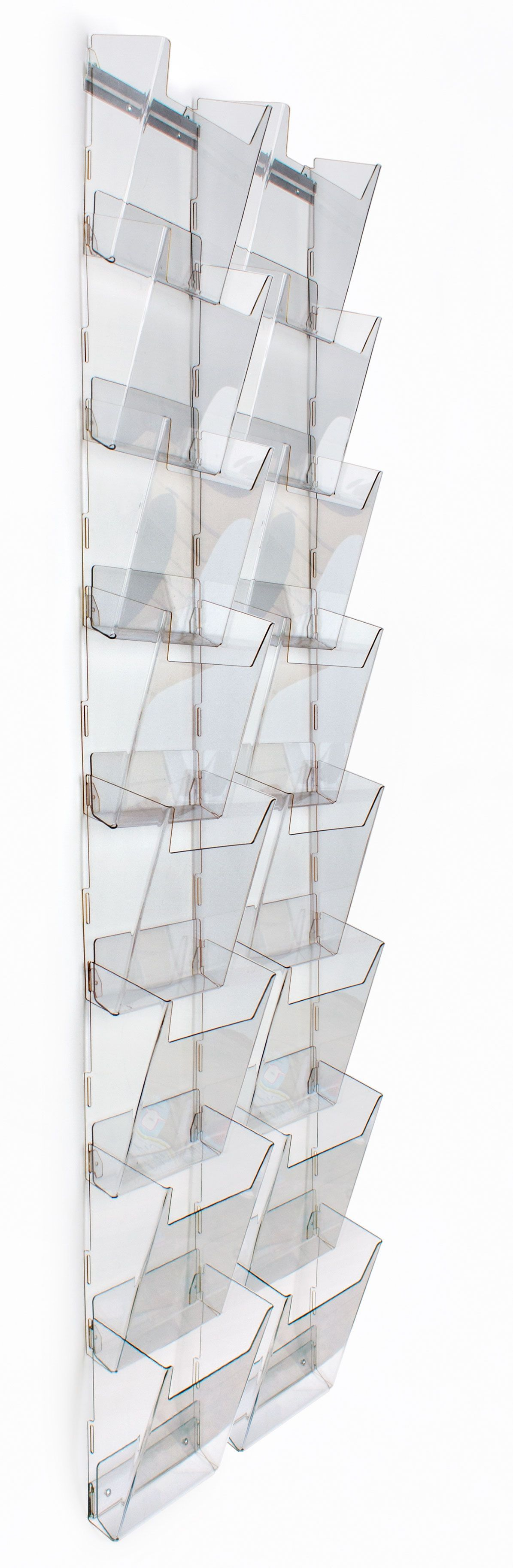 acrylic literature rack holder detail mounted clear with product pockets display brochure wall hanging magazine adjustable