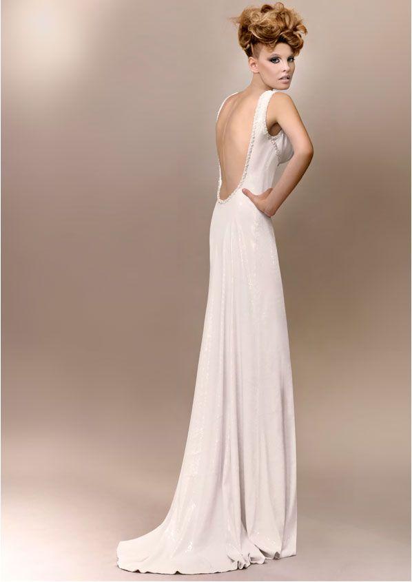 Vintage Wedding Dress Couture Marlene 1940