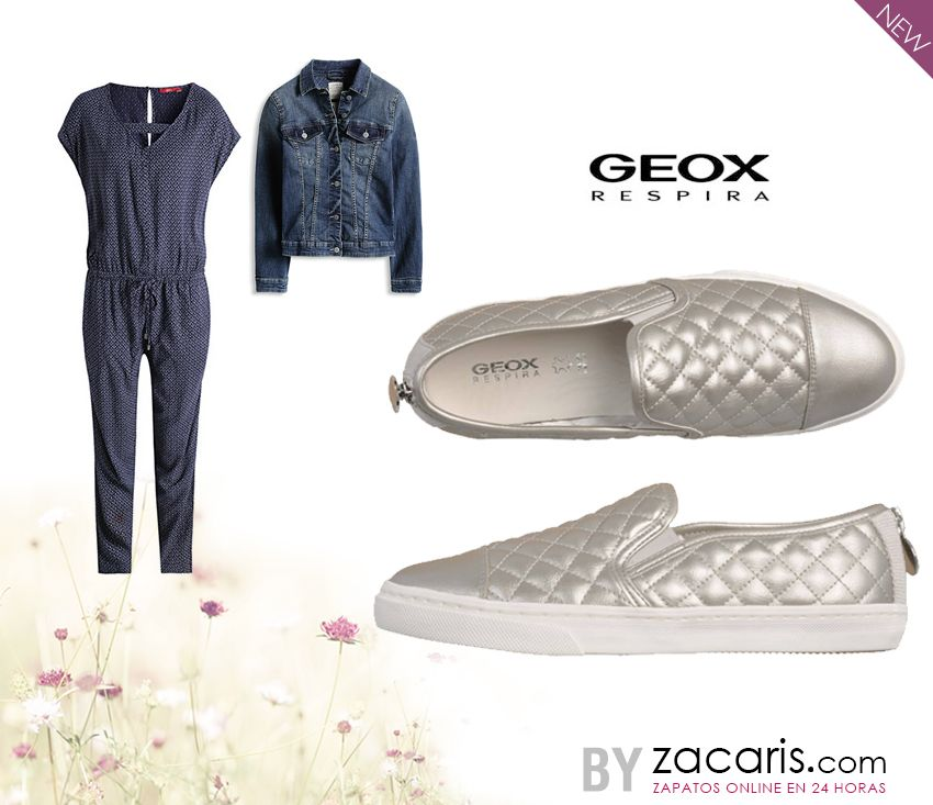Los colores metalizados llegan con ¡fuerza! look para el lunes #slipon #geox #NewCollection #PasosdePrimavera http://www.zacaris.com/articulos/100011765.htm