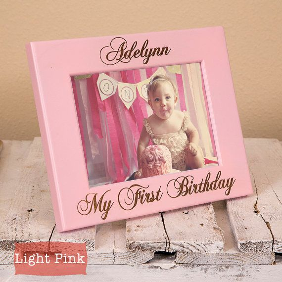 My First Birthday - Baby Picture Frames - First Birthday Boy - First ...
