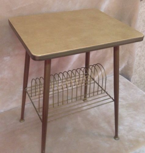 Vintage Phonograph STEREO STAND ALBUM RACK Record Player Turntable Storage