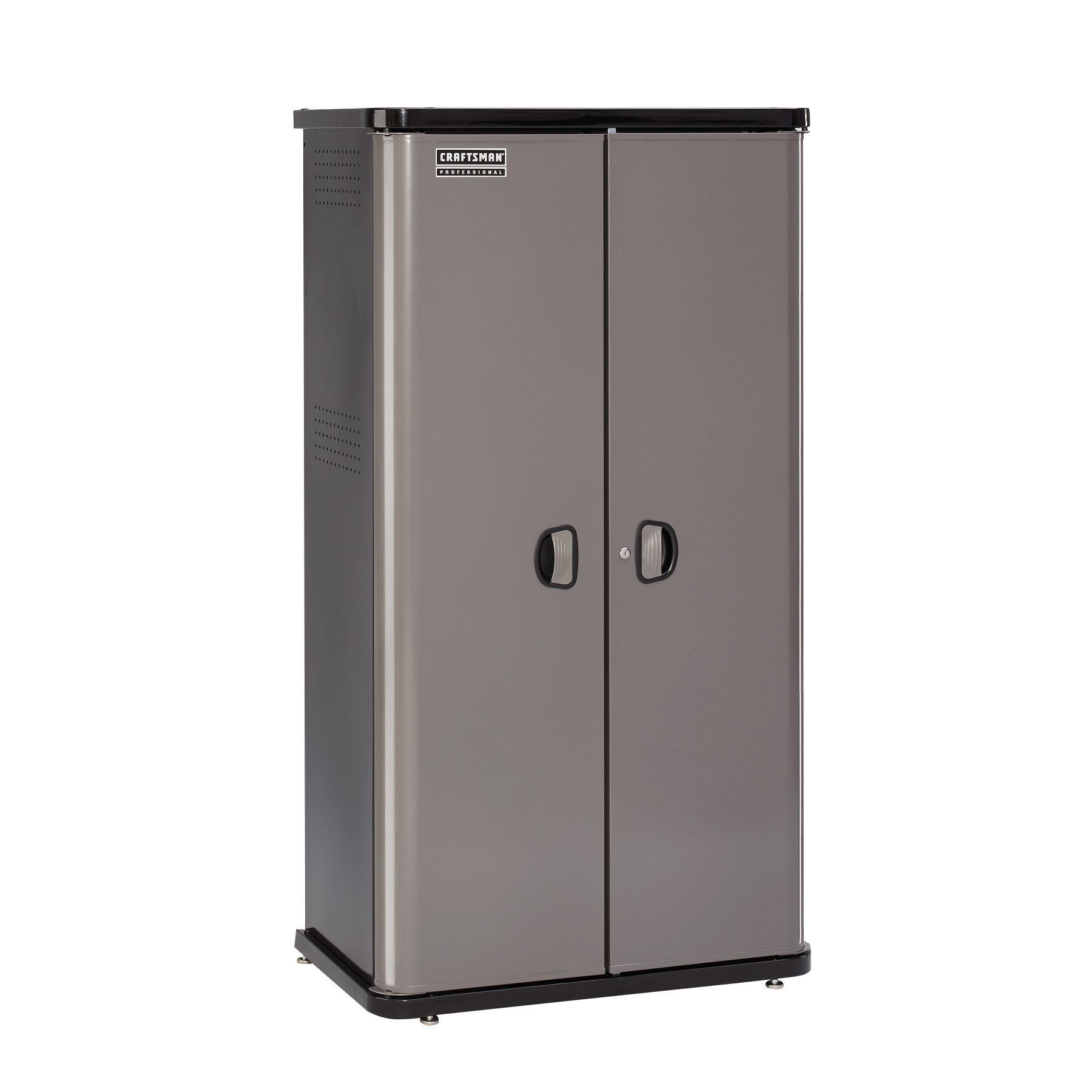 Storage Cabinet Steel Cabinets, Craftsman 72 2 Door Tall Floor Cabinet With Shelves