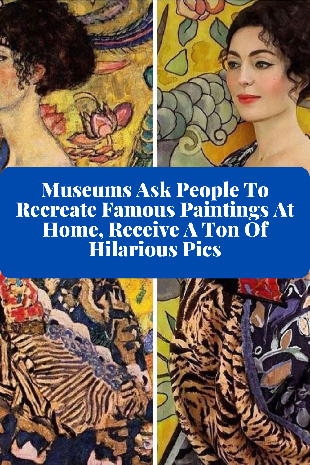 Museums Ask People To Recreate Famous Paintings At Home Receive A Ton Of Hilarious Pics In 2020 Hilarious Funny Pictures Famous