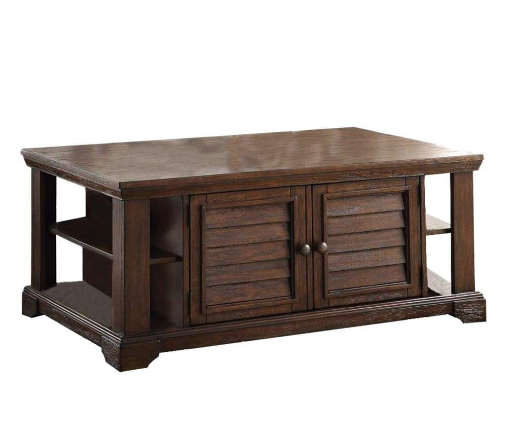 Lovely Coffee Table Dark Oak Brown