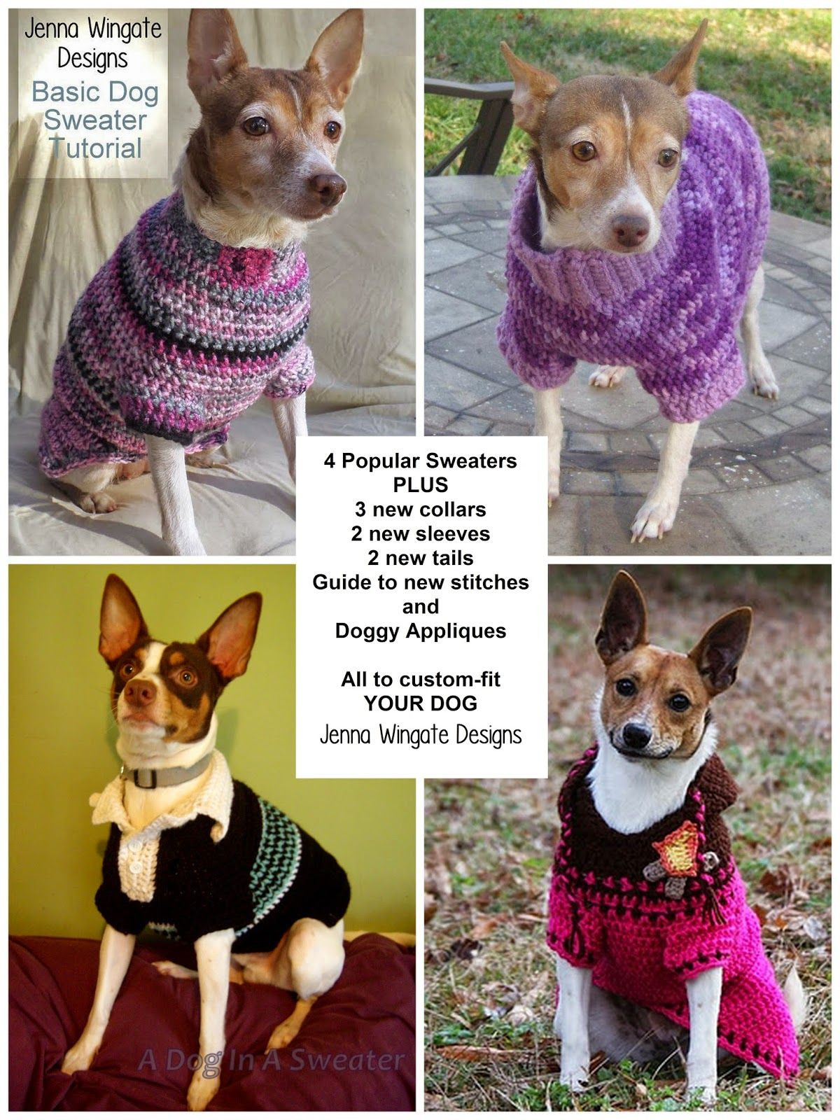 Jenna Wingate Designs: Custom-Fit Dog Sweater Ebook | doggies ...