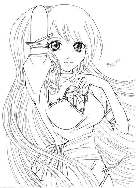 Manga Para Colorir Personagens De Desenhos Animados Desenhos De