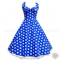 LaFrock's Lady in Blue - blue with white polka dots