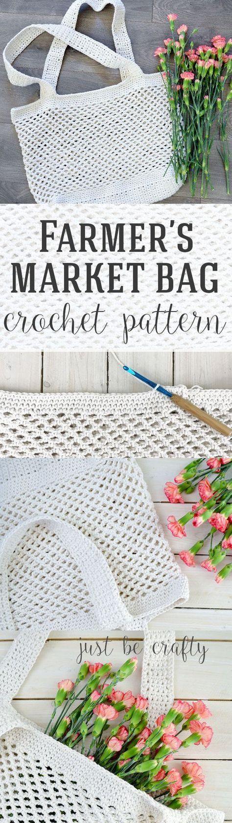 Crochet Farmer\'s Market Bag Pattern - Free Pattern by | Mochila ...