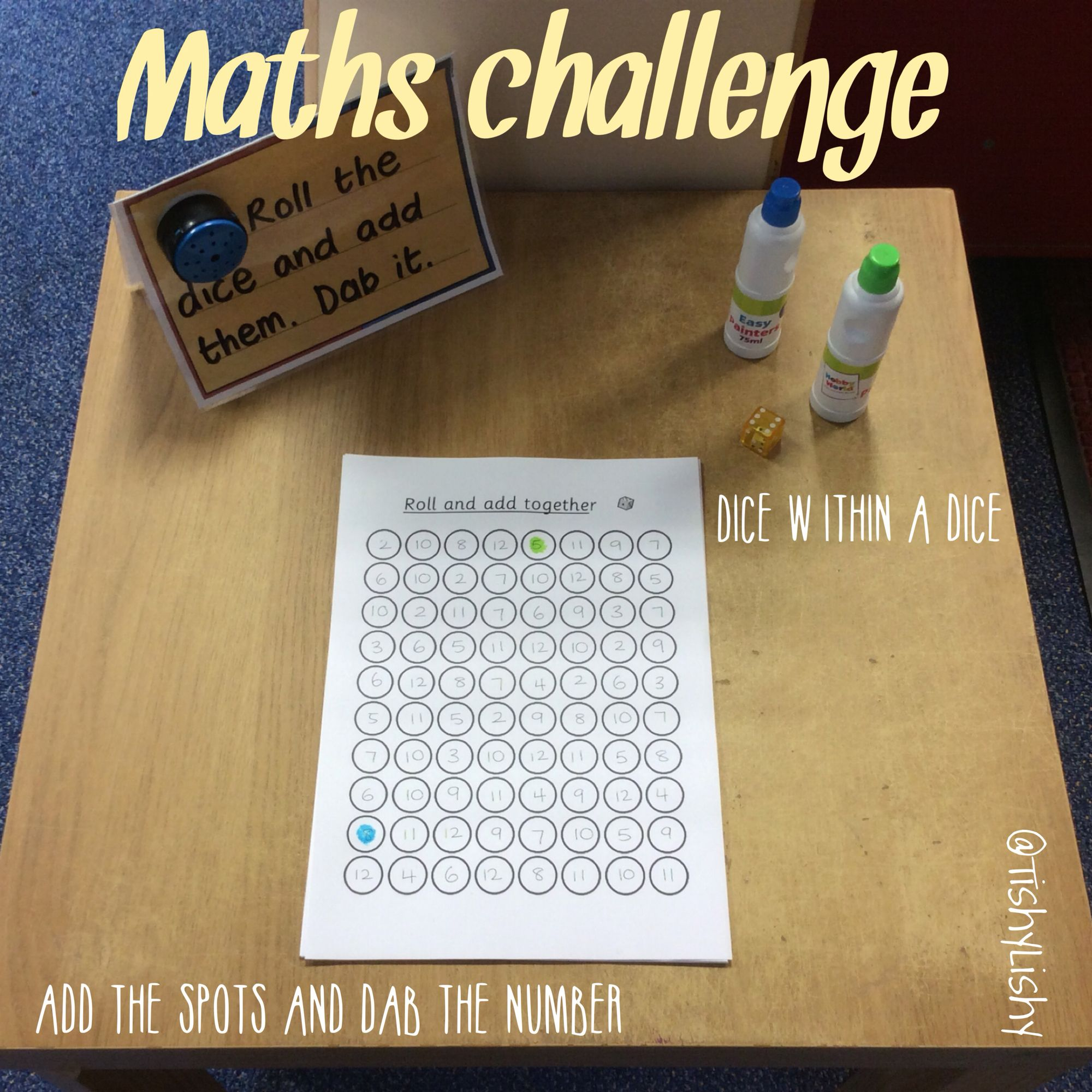 Maths Challenge Inspired By A Previous Activity We Used