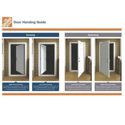 L I F Industries 30 In X 80 In Gray Right Hand Flush Entrance