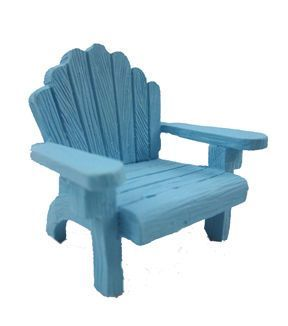 Fairy Garden Adirondack Chair-Blue