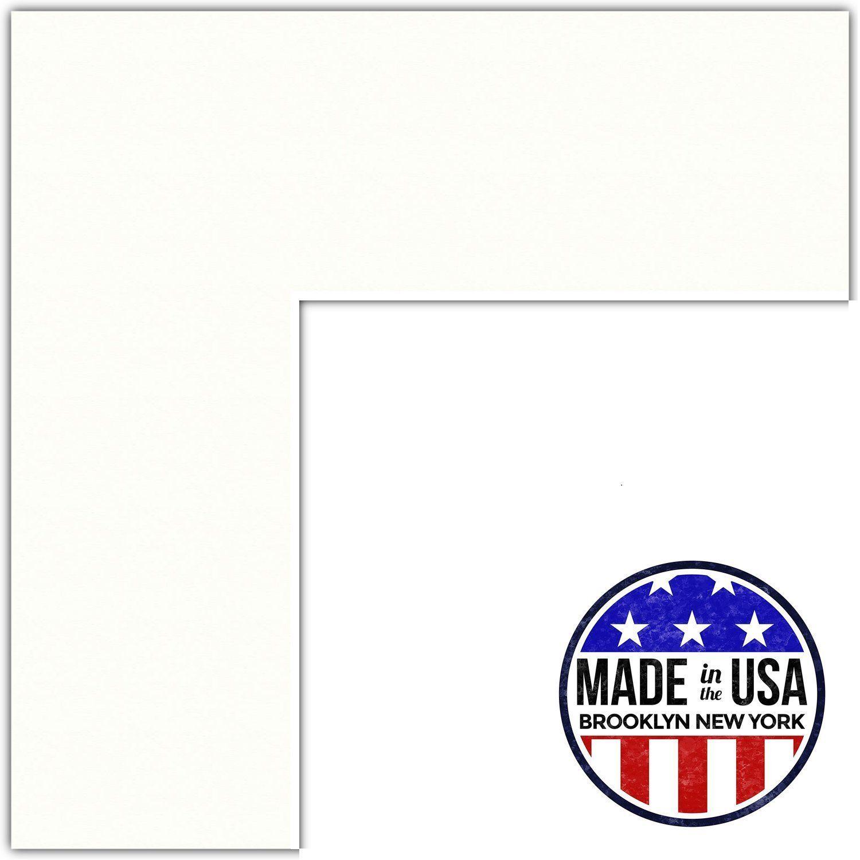 18x22 Polar White / Porcelain Custom Mat for Picture Frame with ...