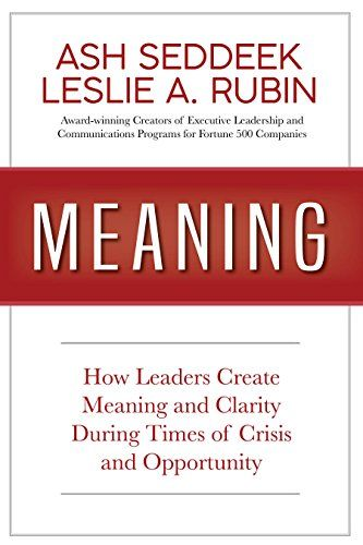 New Bestseller MEANING Documents How Successful Business Leaders Deal With  Crisis