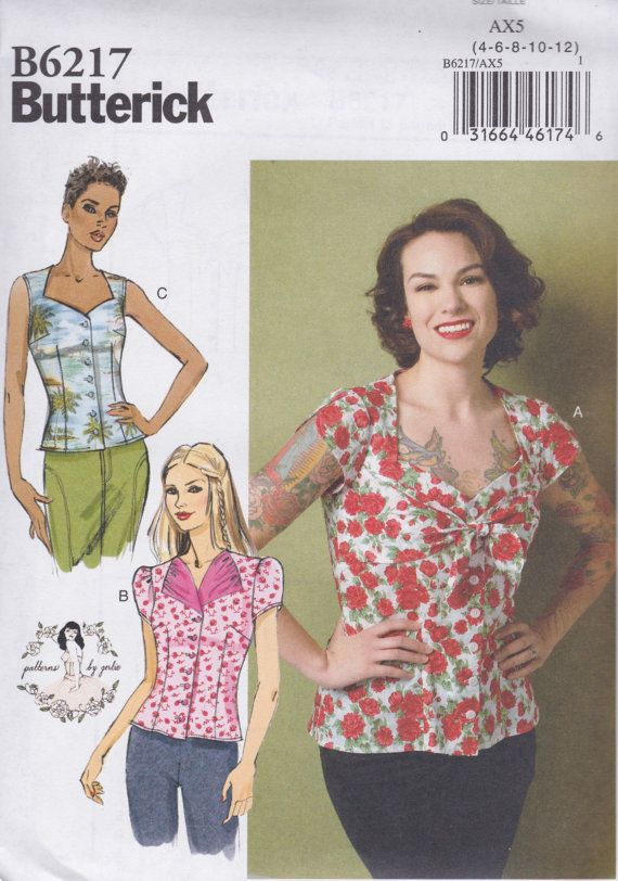 Butterick B6217 Patterns by Gertie Easy Loose-Fitting Blouse with ...