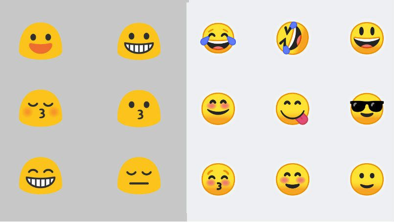 Android O Emoji Go From Gumdrop To Usable Pocketnow Android O Emoji Android