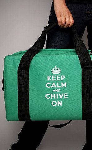 Keep Calm and Chive On Soft Cooler