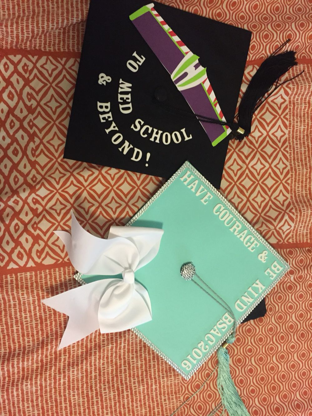 Uncategorized Paper Graduation Caps graduation caps i decorated for me and my boyfriend materials glue gun