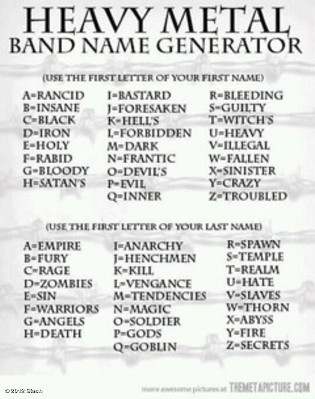 Slash's photo: For those of u metal heads struggling to think of a band name:  iiii]; )'