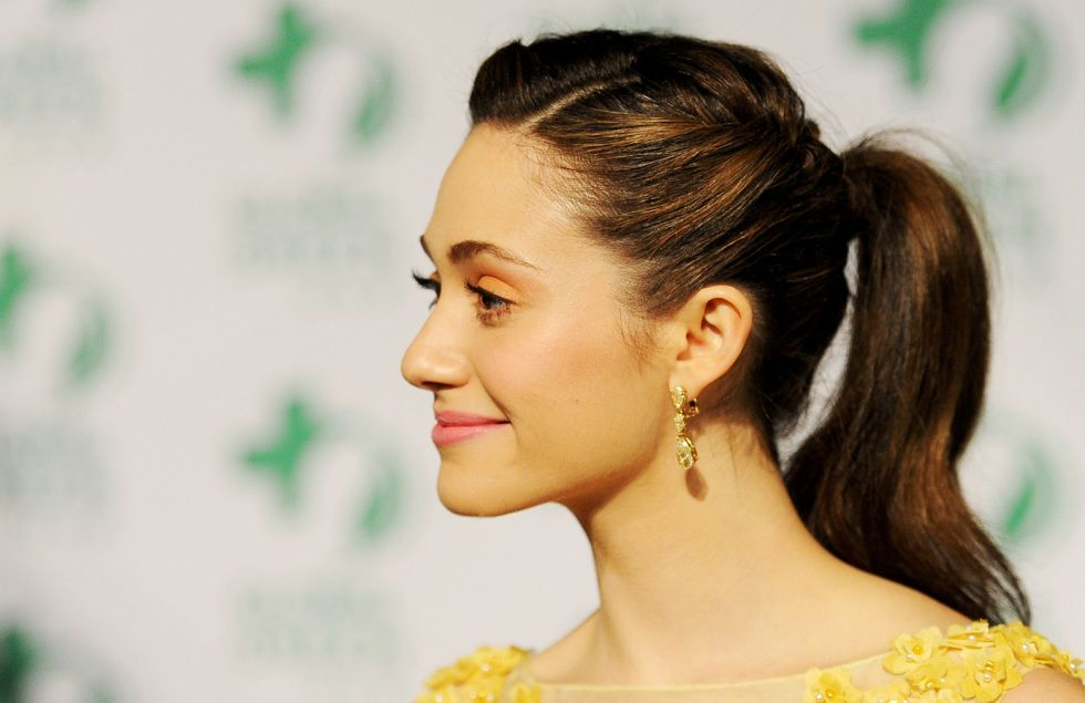 Emmy Rossum nailed the perfect pony.