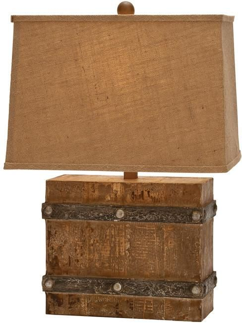 "Bayden Hill Wood Table Lamp 23""H, 16""W"