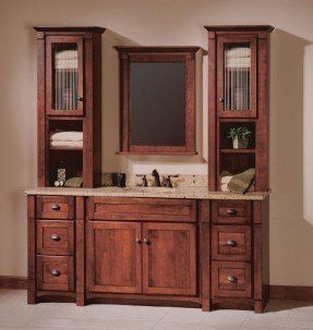 bathroom vanity with cabinet tower | 60