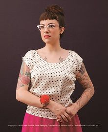 free pattern for the Portrait Blouse from Gertie's New Book for Better Sewing by Gretchen Hirsch at Craft