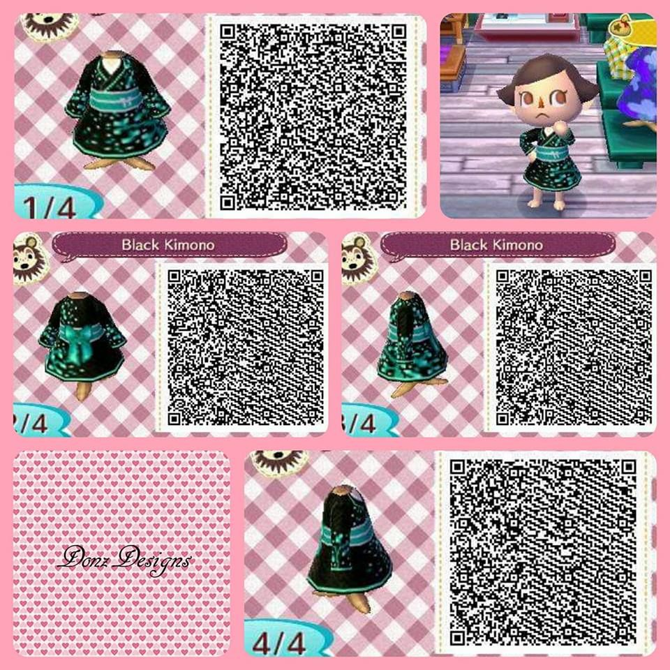 Black Kimono By Donzdesigns Animal Crossing Qr Codes Clothes