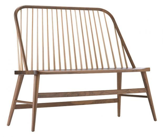 """Traditionell: Sitzbank """"Shaker Settee"""" von Fancher Chair Company"""