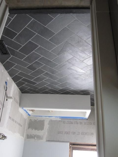 Herringbone Tile Floor Tiles Cut Down To