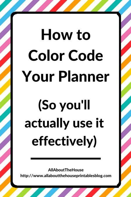 Planner Organization How to color-code your planner so youu0027ll - color lined paper