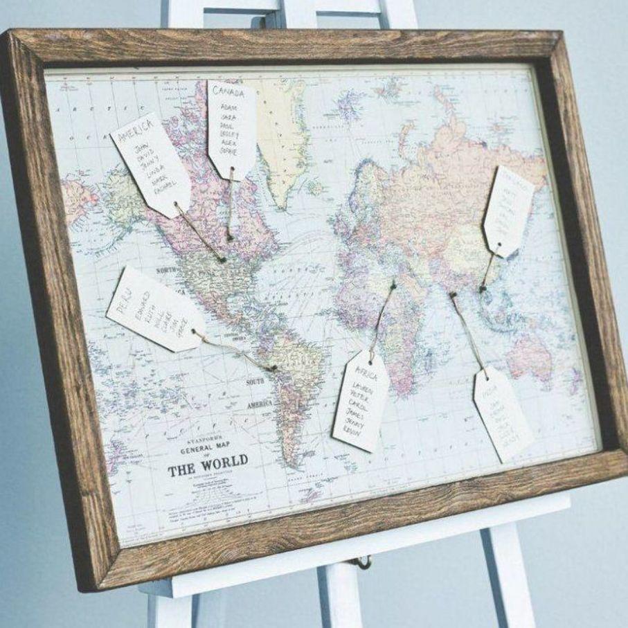 Idee Plan Table Mariage Mappe Monde Theme Voyages Carte Monde Blog Deco Clemaroundthecorner Decorat Wedding Table Themes Wedding Table Card Table Wedding