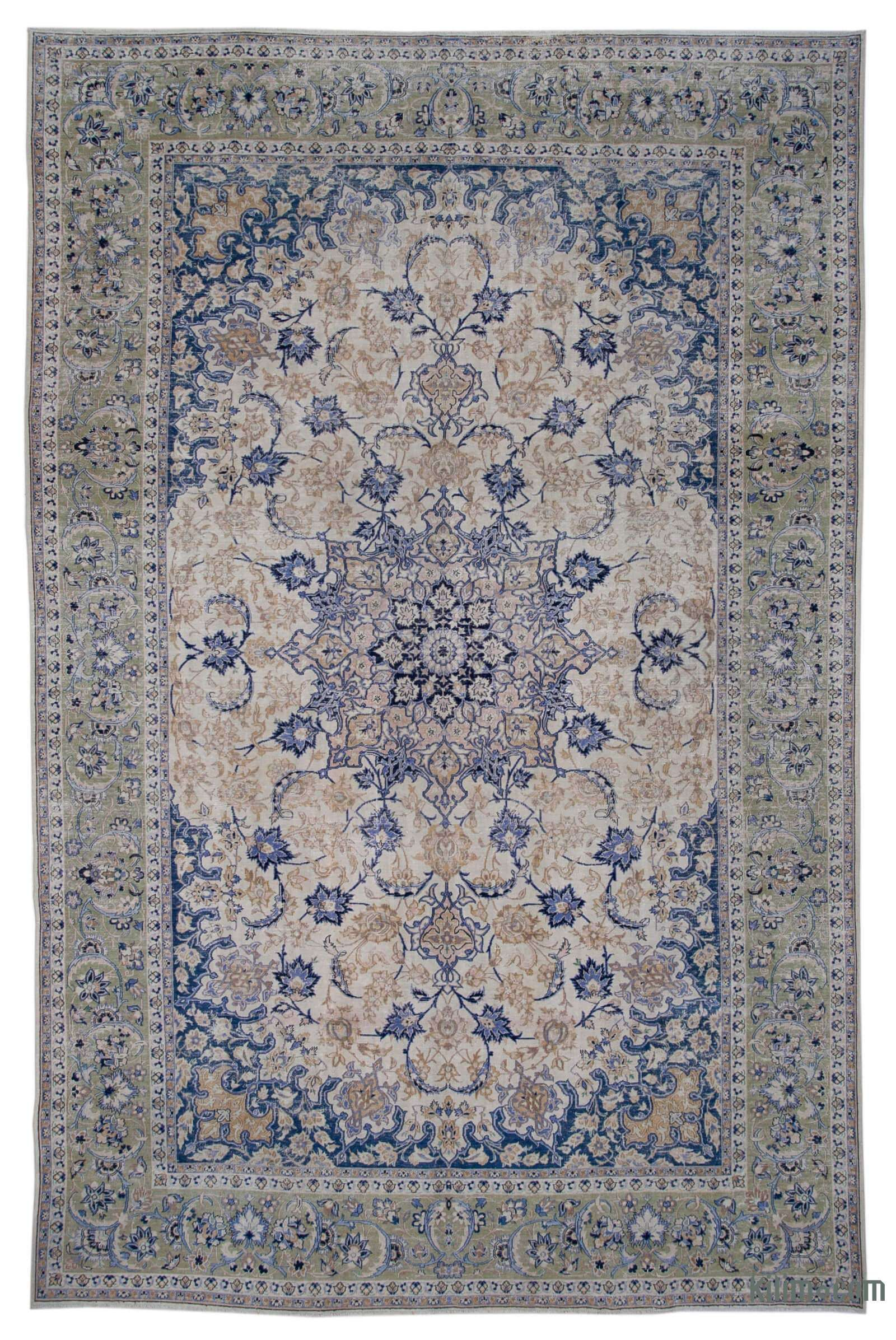 Vintage Hand Knotted Oriental Rug 10 1 X 15 7 121 In X 187