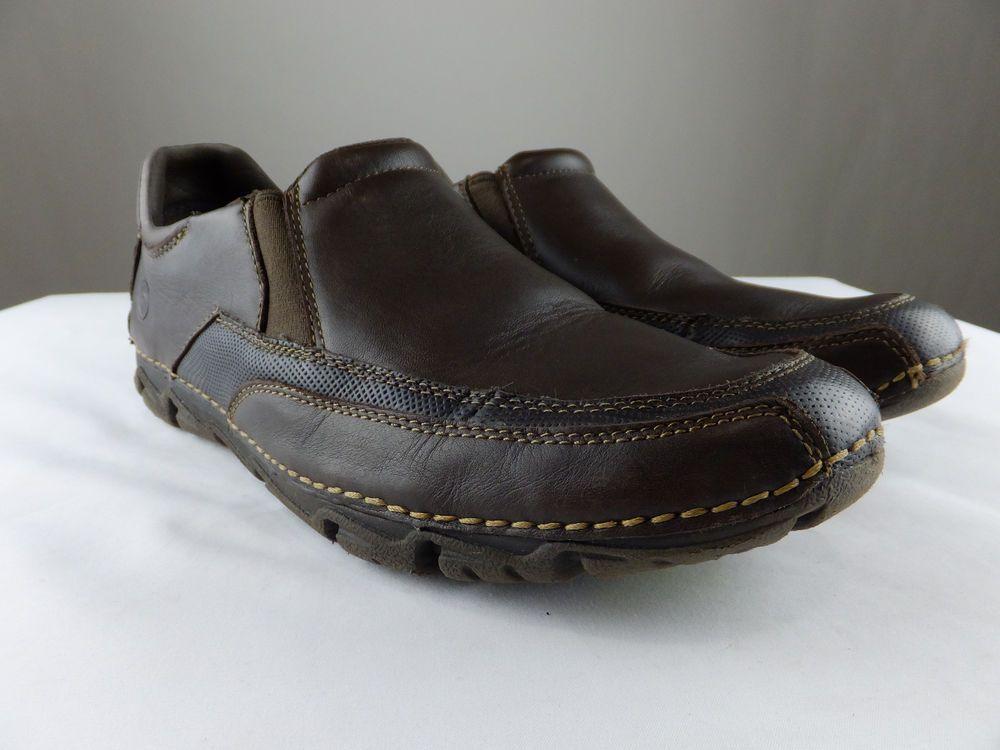 d934f95871d5f Rockport K72220 Rocsports Lite Slip On Loafer Brown Leather Shoe Men ...