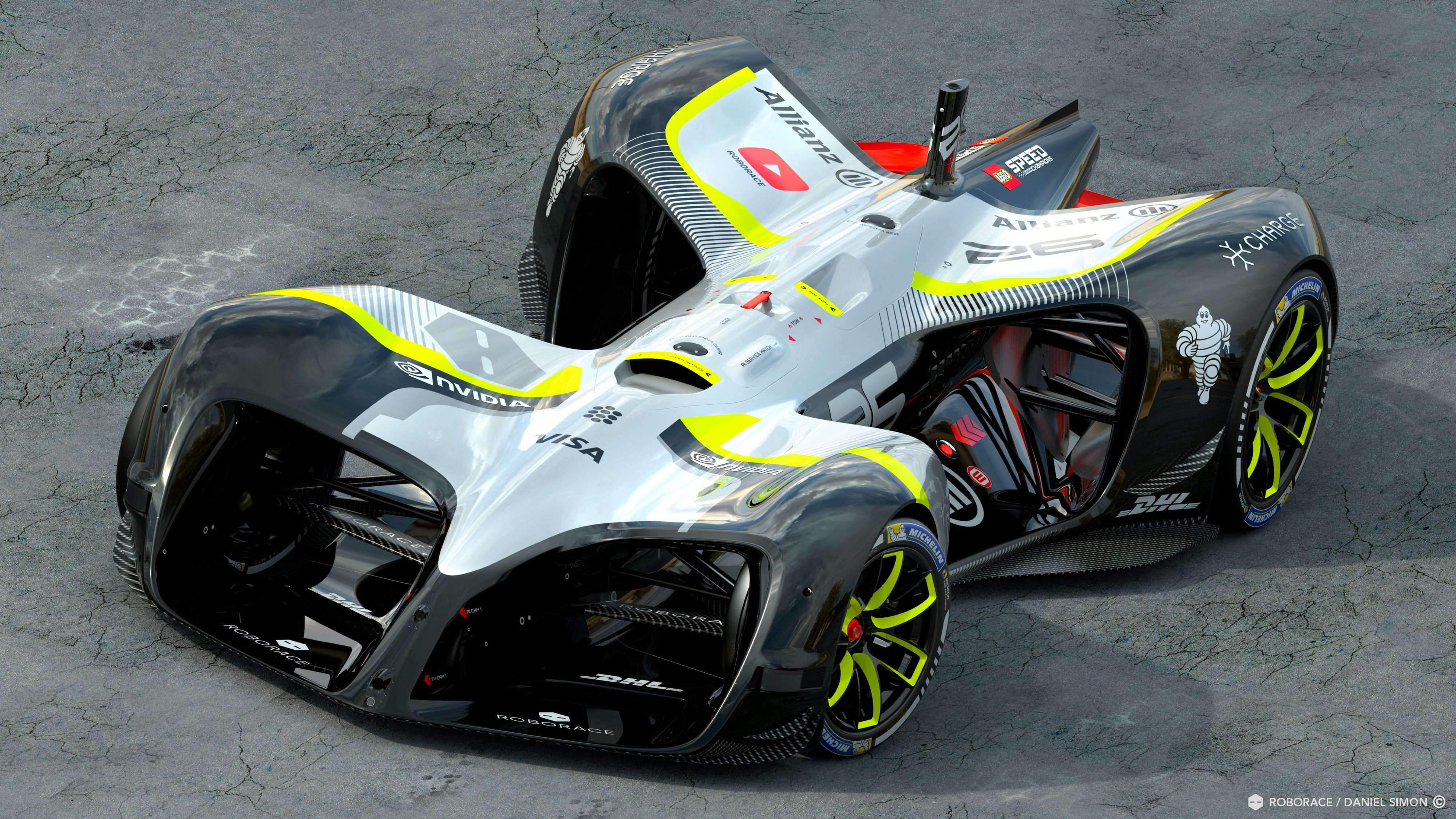 Driving Racing Car >> This 199 Mph Dog Bone Is Roborace S Actual Self Driving Race