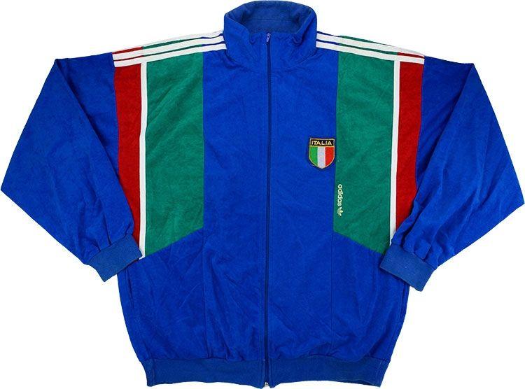 1990-92 Italy Adidas Track Jacket (Very Good) L