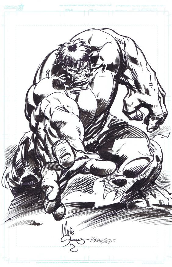 #Hulk #Fan #Art. (Hulk marker sketch) By: Mike Deodato, Jr & Bill Reinhold. ÅWESOMENESS!!!™ ÅÅÅ+