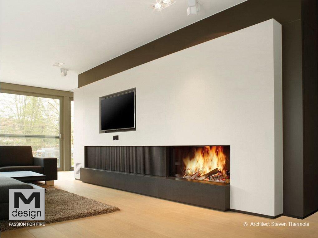 Photos de foyers à bois  cheminées décoratives design Cheminée