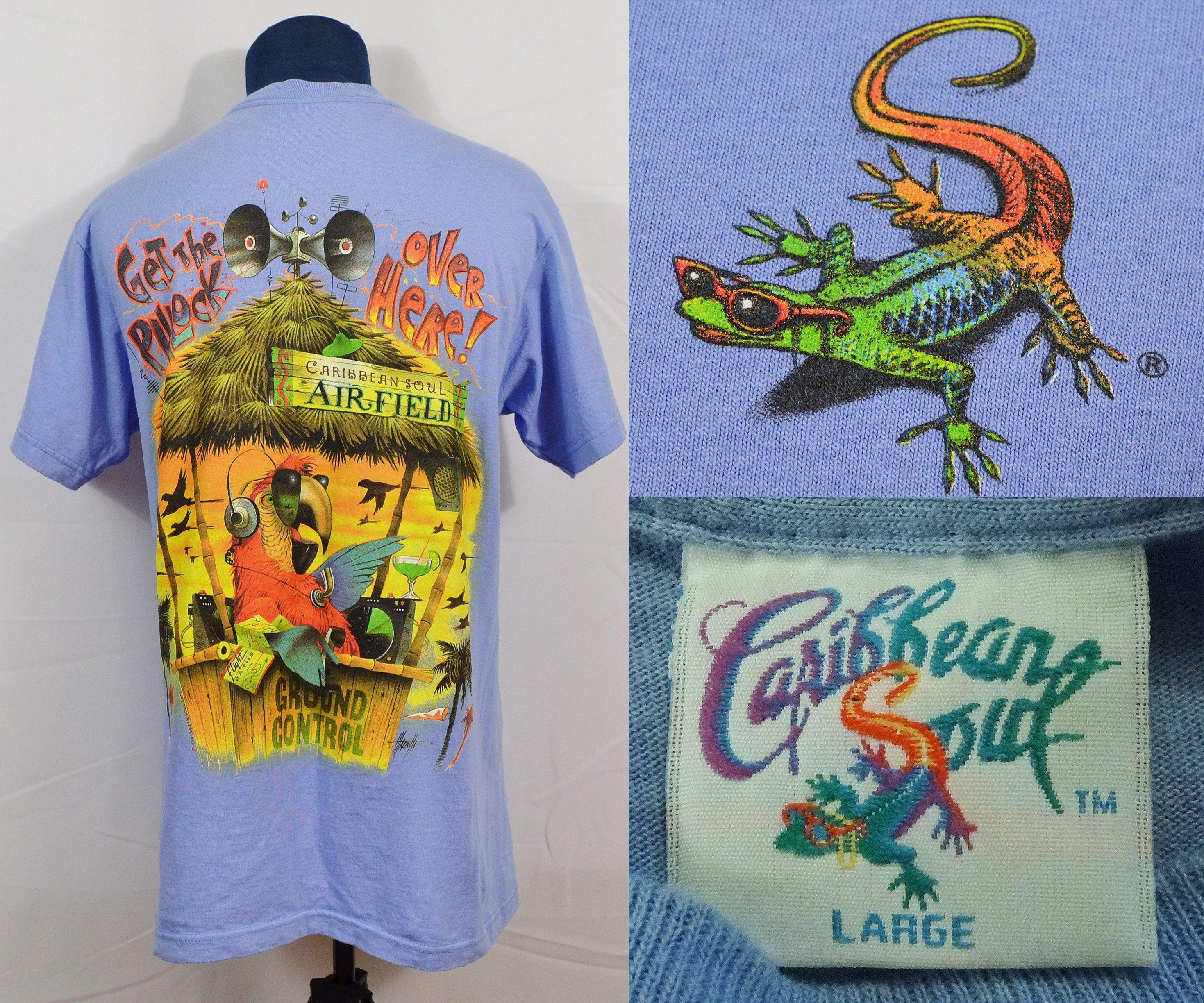 Vintage humour souvenir t shirt pin up carribean size medium