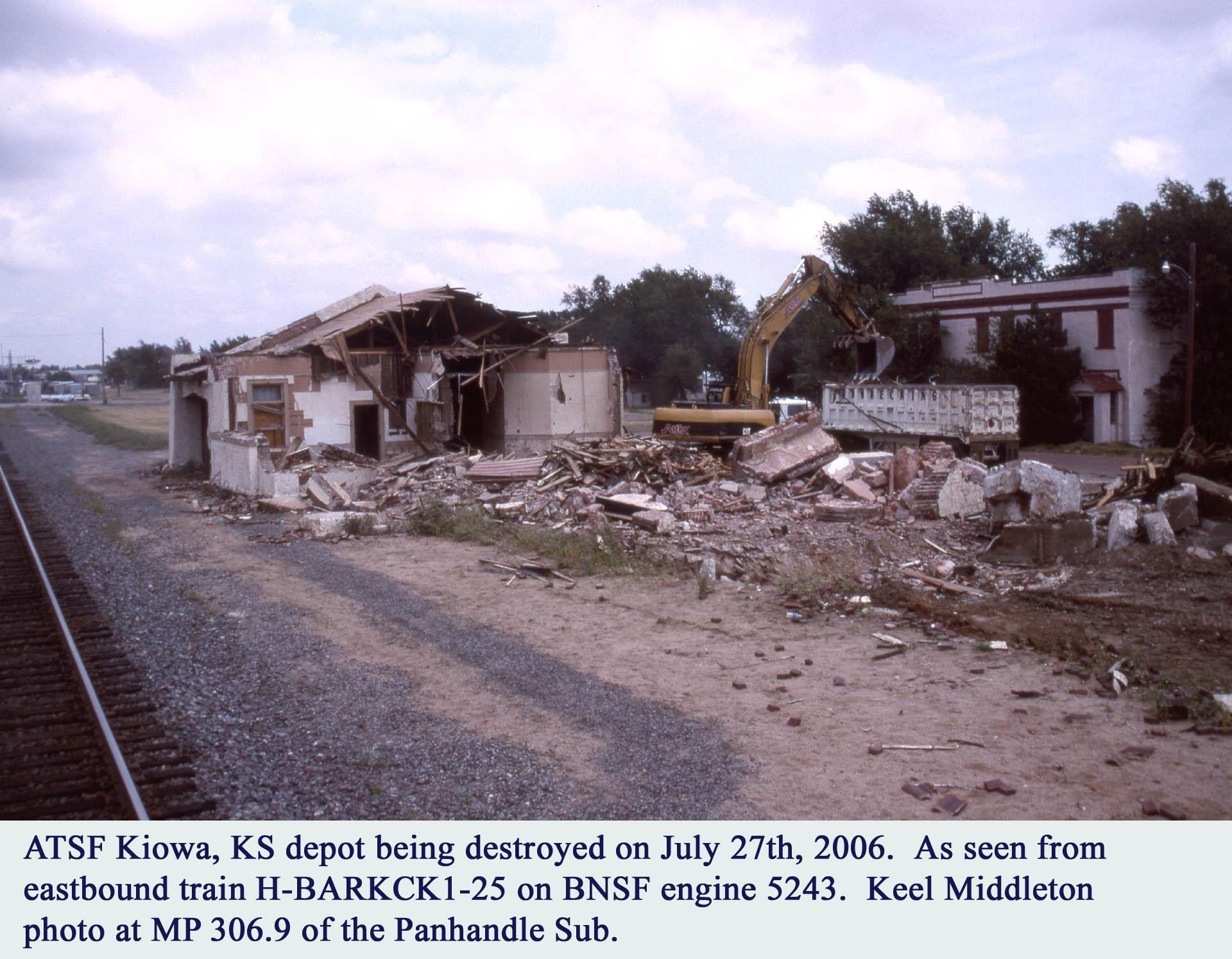 Keel Middleton Rail Related Website Kiowa Depot Kiowa Kansas Photos Depot