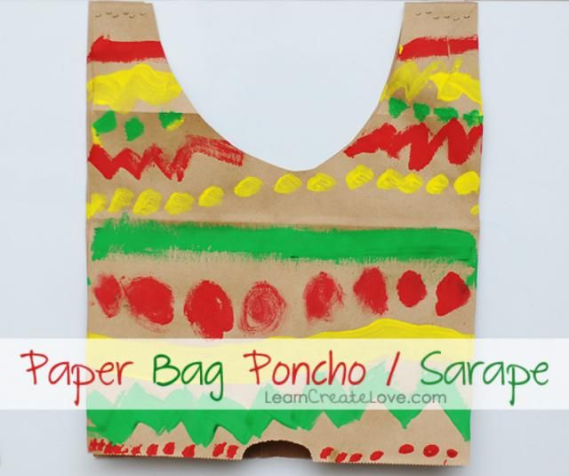 Need a few fun Cinco de Mayo craft ideas for your kids to try? I've got 5 of them that are perfect. All of these projects require simple supplies and take almost no time at all to complete.: Paper Bag Poncho