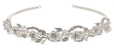 The L. Erickson Goddess Headband is the perfect wedding hair accessory