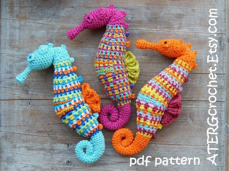 Amigurumis Caballitos A Crochet : Crochet pattern seahorse by atergcrochet patrón de caballo