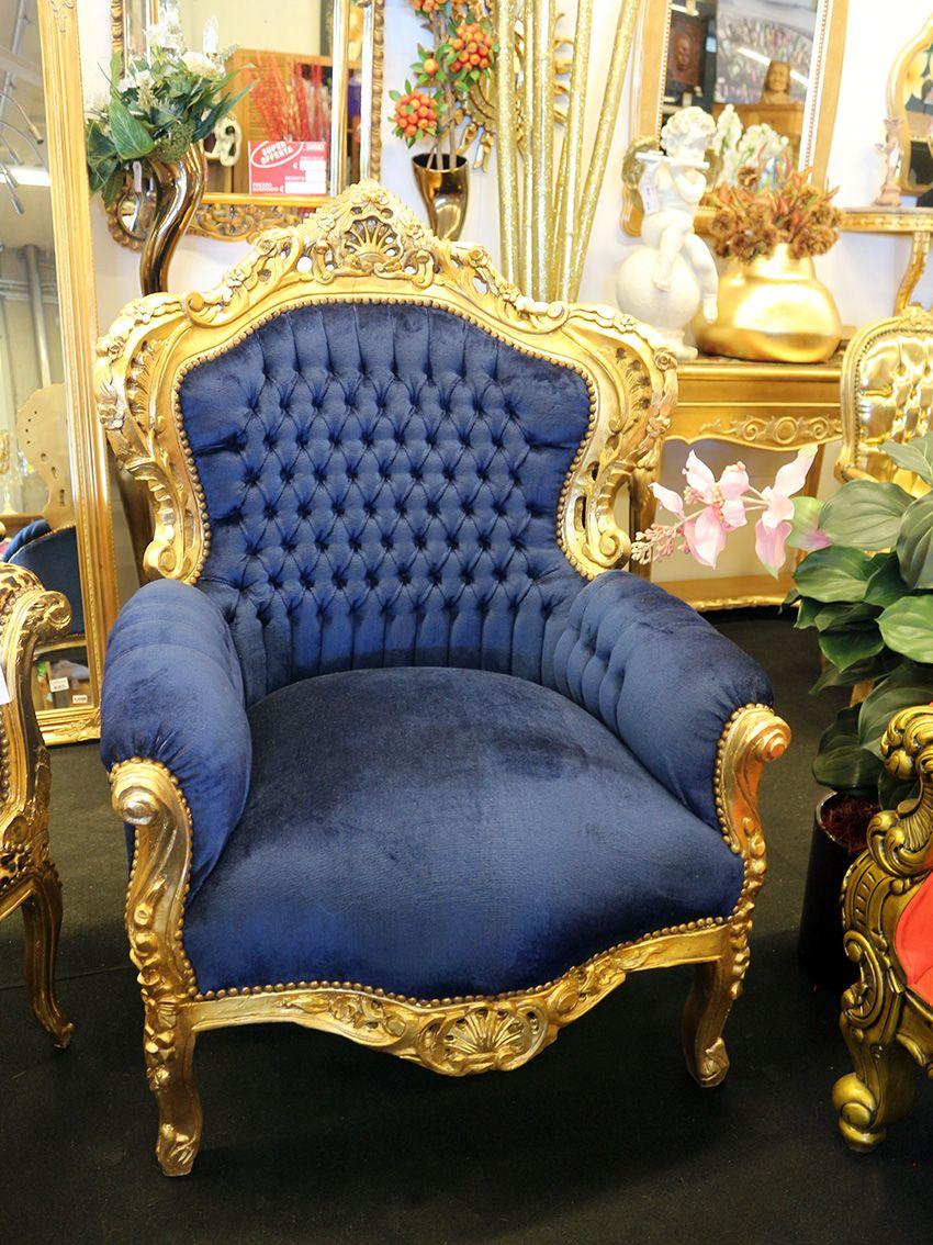 Baroque furniture chair poltrona marsiglia barocco con - Mobili barocco moderno ...