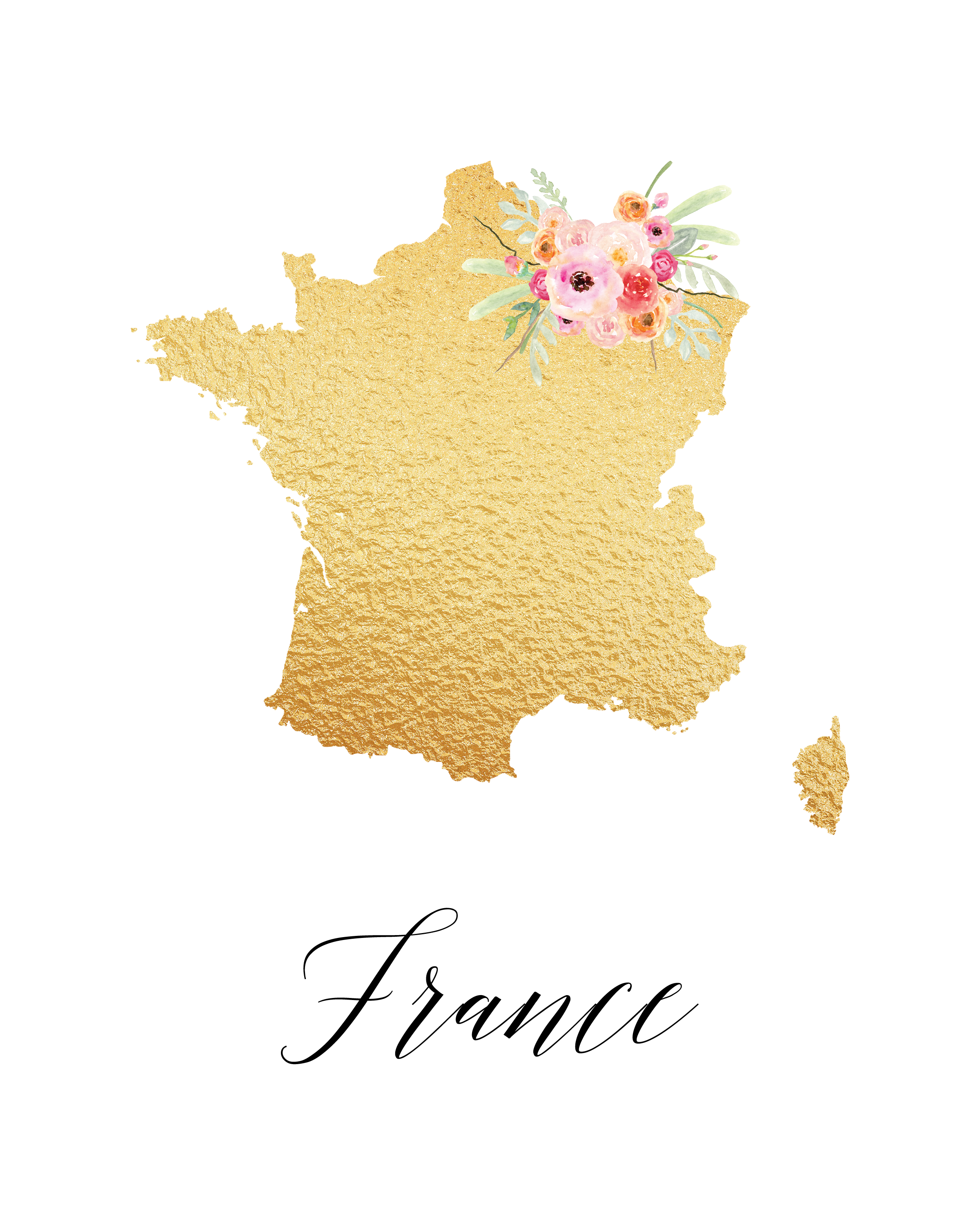 TCM-GoldFoil-Countries-France.png 2,400×3,000 pixels | print for ...