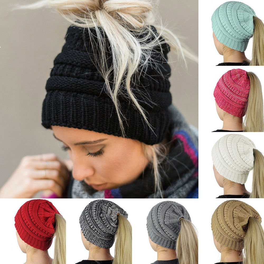 d1fd05ba931 Features  Brand new and high quality. Exquisitely knitted Ponytail Hat   Ultra soft Yarn
