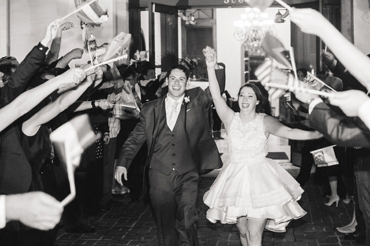 Bride and groom sending off | fabmood.com